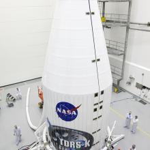 NASA's TDRS-K Satellite Fully Encapsulated