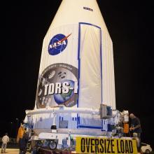 TDRS-K Leaving Astrotech