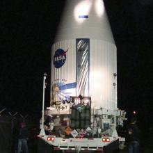 LDCM Leaving Astrotech for the Launch Pad
