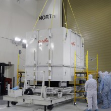 NASA's Orbiting Carbon Observatory-2 (OCO-2) Arriving at Astrotech's VAFB Facility