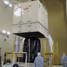 Uncrating OCO-2 from the Transporter