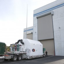 DSCOVR Arriving at Astrotech's Florida Facility