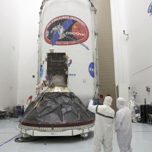 DSCOVR Ready to be Encapsulated in the Falcon 9 Fairings