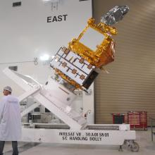Technicians Work on the Spacecraft