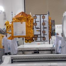 At Astrotech's Vandenberg Facility, OSTM is Prepped for Instrument Inspections and Testing