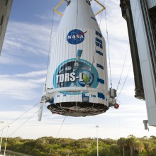 TDRS-L Being Lifted Atop an Atlas V Rocket