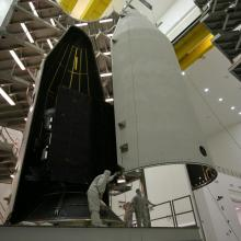 The Two Payload Fairings Coming Together