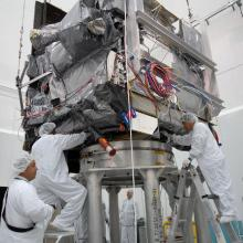 GOES-O Prepped for Fueling Ops at Astrotech's Florida Facility