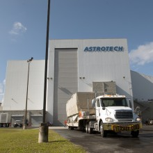 The Spacecraft Arriving at Astrotech's Florida Facility