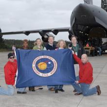 NASA GOES-P Team Members at the SLF