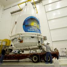 SDO Leaving Astrotech for the Launch Pad