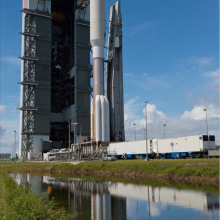 Atlas V Roll-out with the U.S. Navy's MUOS-2 Satellite