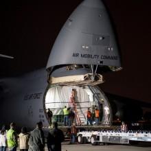 AEHF-3 Aboard a C-5M Galaxy