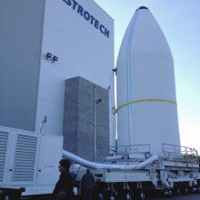 WGS-5 Preparing to Leave Astrotech's Florida Facility