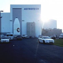 WGS-5 Leaving Astrotech's Payload Processing Facility