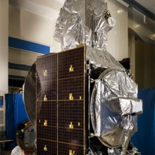 Lockheed Martin's PAN Satellite in the Factory During Pre-Launch Preparations