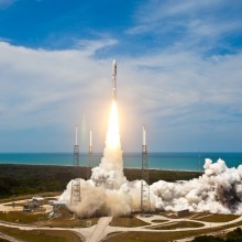 Lift-off of a United Launch Alliance Atlas V Rocket Carrying AEHF-2 for the United States Air Force