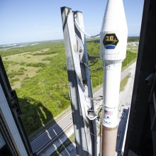The Atlas V Rocket, Carrying CLIO, Being Rolled From the Vertical Integration Facility (VIF) to the Launch Pad