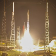 Lift-Off of the Atlas V Rocket Carrying Morelos-3