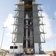 The Spacecraft Being Lifted Atop an Atlas V Rocket