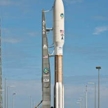 A United Launch Alliance Atlas V Rocket with MUOS-1 for the United States Navy