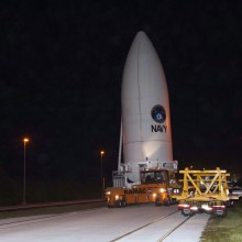 MUOS-2 Rolling Out to the Launch Pad