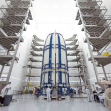 MUOS-3 Being Encapsulated at Astrotech's Florida Facility