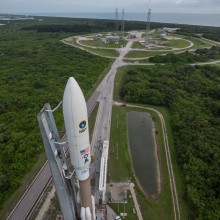 United Launch Alliance's Atlas V Rocket Rolling Out to the Launch Pad