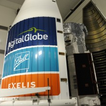 Atlas V Payload Fairings Being Moved Around the Spacecraft