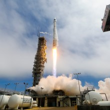Launch of an Atlas V Rocket Carrying WorldView-3