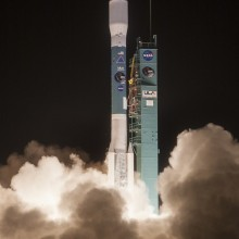 Lift-off of United Launch Alliance Delta II Rocket Carrying SMAP