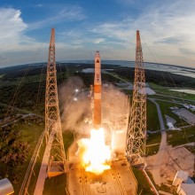 Liftoff of a Delta IV Rocket Carrying AFSPC-4