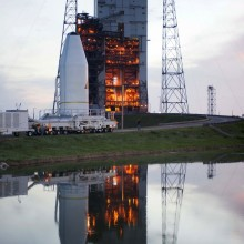 AFSPC-4 Arriving at the Launch Site After Leaving Astrotech's Florida Facility