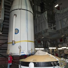 AFSPC-4 Being Placed Atop a Delta IV Medium Rocket