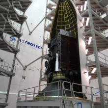 WGS-5 Being Encapsulated at Astrotech's Florida Facility
