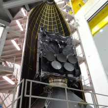 WGS-5 Being Encapsulated Inside a United Launch Alliance Delta IV 5-Meter Payload Fairing