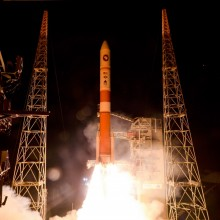 Lift-Off of the Air Force's Fifth Wideband Global SATCOM Satellite on a United Launch Alliance Delta IV Rocket
