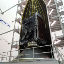 WGS-6 During Encapsulation at Astrotech's Florida Facility