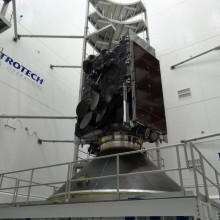 WGS-6 Prior to Encapsulation at Astrotech's Florida Facility