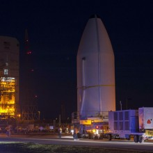 The Spacecraft Arriving at the Launch Pad