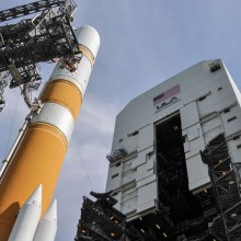 A United Launch Alliance Delta IV Rocket Ready with WGS-6