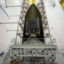 Encapsulation of the 7th WGS Satellite at Astrotech's Florida Facility