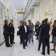 NASA Administrator Charles Bolden Tours the O & C with Astrotech's MFS (Credit: NASA)